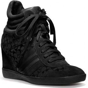 Coach Alara Wedge Sneaker in Black